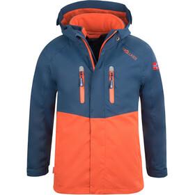 TROLLKIDS Bryggen 3in1 Jacket Kids mystic blue/orange